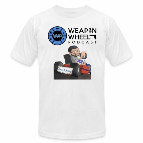 Weapon Wheel Podcast JayMegaGames T-Shirt - Men's  Jersey T-Shirt