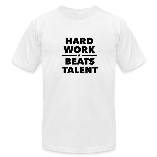 HARD WORK VS TALENT - Men's Fine Jersey T-Shirt