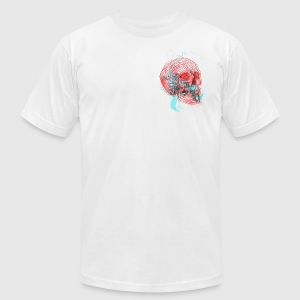 red skull - Men's T-Shirt by American Apparel