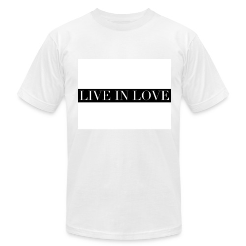 Live In Love - Black On White - Men's Fine Jersey T-Shirt