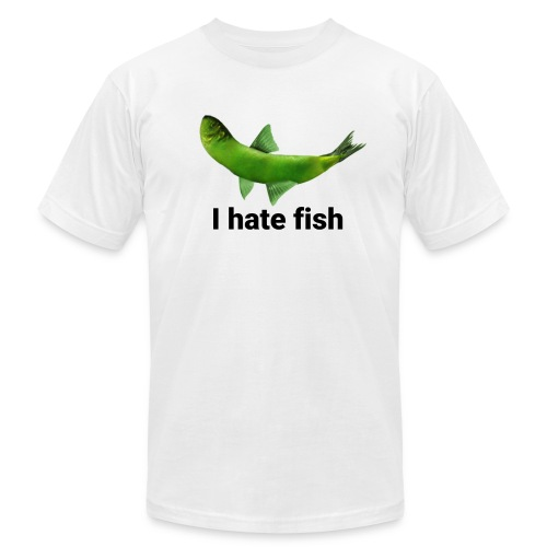 I hate fish - Men's Fine Jersey T-Shirt