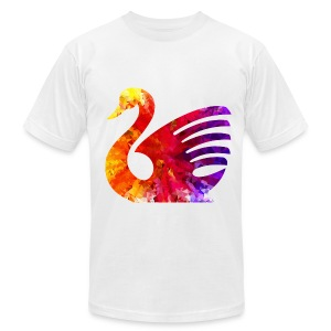 psychedelic swan tshirt image - Men's T-Shirt by American Apparel