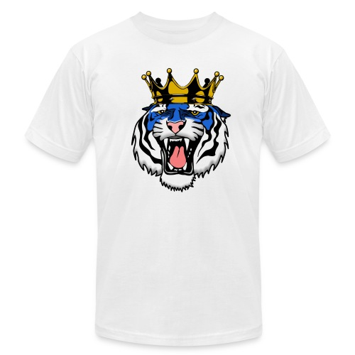 Jackson State Tiger Crown - Men's Fine Jersey T-Shirt
