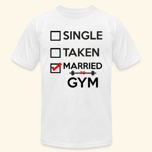 MARRIED TO GYM - Men's Fine Jersey T-Shirt