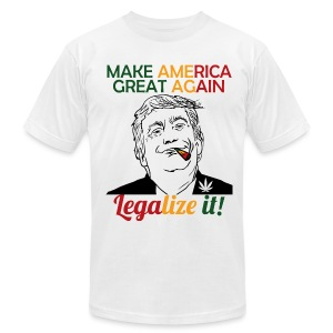Smoke Cannabis and Maker America Great Again Trump - Men's T-Shirt by American Apparel