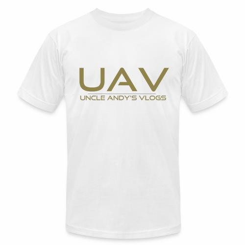 Uncle Andy's Vlogs Merch (gold) - Men's  Jersey T-Shirt