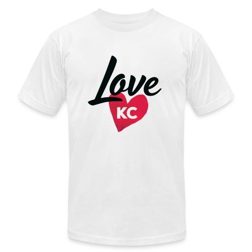 LoveKC Logo Final color - Men's  Jersey T-Shirt