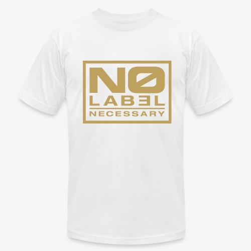 No Label Necessary Gold Logo - Men's Fine Jersey T-Shirt