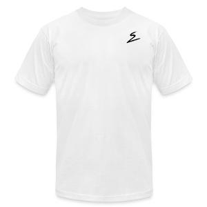 Swirv Signature Logo White - Men's Fine Jersey T-Shirt