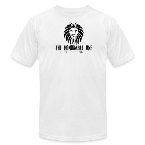 Lion: The Honorable One (Black) - Men's Fine Jersey T-Shirt