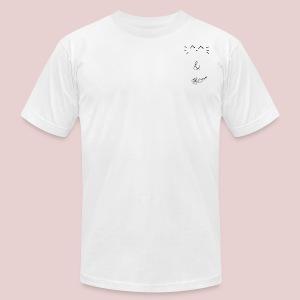 Cat and Rose Logo - Men's Fine Jersey T-Shirt