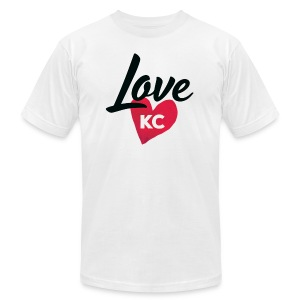 LoveKC Logo Final color - Men's Fine Jersey T-Shirt