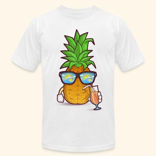 Pinapple Blue Sea - Men's Fine Jersey T-Shirt