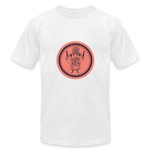 Tiki head campfire - Orange - Men's Fine Jersey T-Shirt