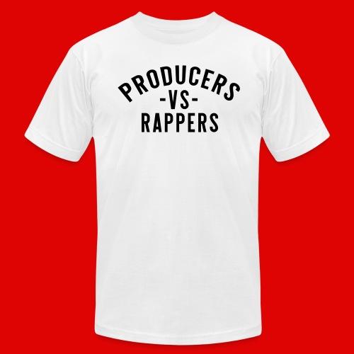 PRODUCERS -VS- RAPPERS (BLKWRDS) BY SHAWTYREDD - Men's Fine Jersey T-Shirt