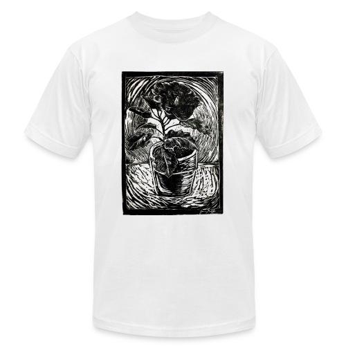 Hibiscus, 2017 linocut print by Jana Griffis - Men's Fine Jersey T-Shirt