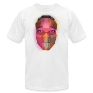 low poly face - Men's Fine Jersey T-Shirt
