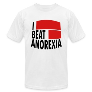 I Beat Anorexia - Men's T-Shirt by American Apparel