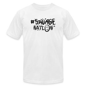 SAVAGE NATION classic black - Men's Fine Jersey T-Shirt