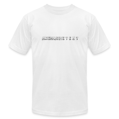 A T - THE CHUBBY DESIGN | Alternative Text co. - Men's Fine Jersey T-Shirt