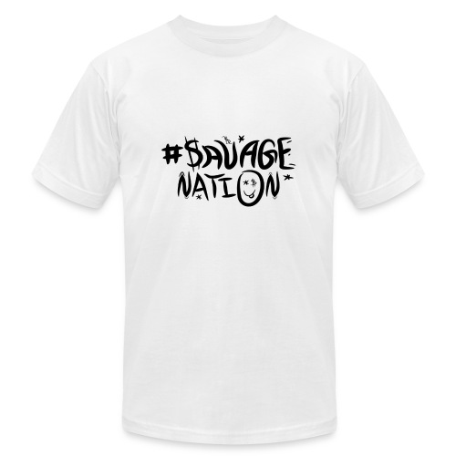 SAVAGE NATION classic black - Men's Fine Jersey T-Shirt