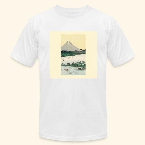 Mount Fuji from Suruga Bay Japan - Men's Fine Jersey T-Shirt