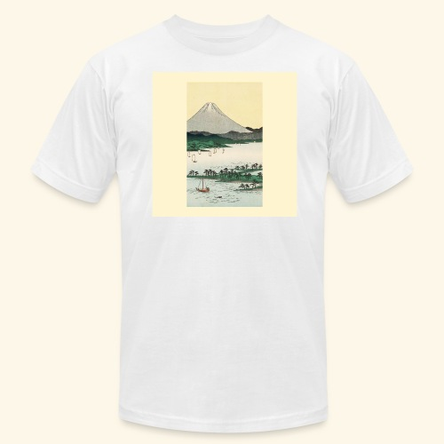 Mount Fuji from Suruga Bay Japan - Men's Fine Jersey T-Shirt