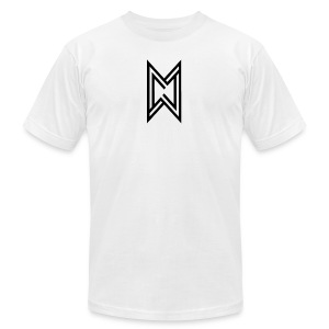 Black Logo White T-Shirt - Men's Fine Jersey T-Shirt