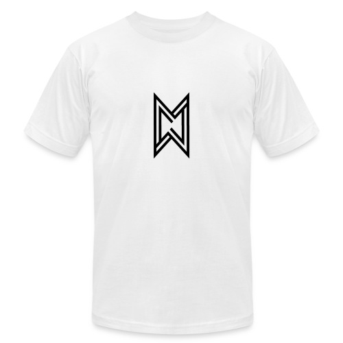 Black Logo White T-Shirt - Men's Fine Jersey T-Shirt