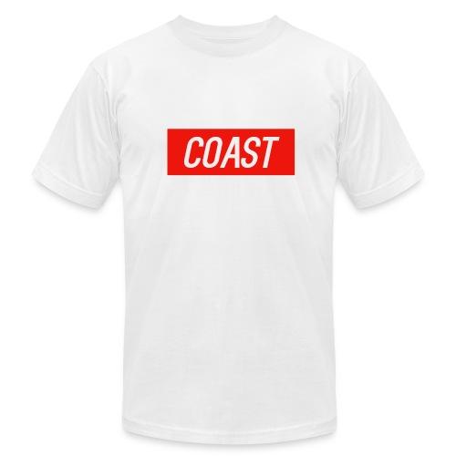 Coast (Red Box Design) - Men's Fine Jersey T-Shirt