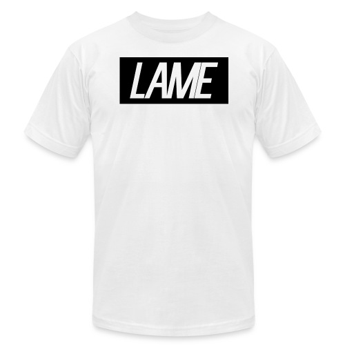 lame/black rectangle - Men's Fine Jersey T-Shirt