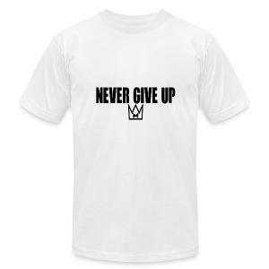 Never Give Up - Men's Fine Jersey T-Shirt