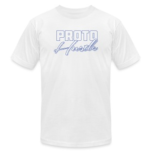 PROTO HUSTLE LOGO BLUE - Men's Fine Jersey T-Shirt