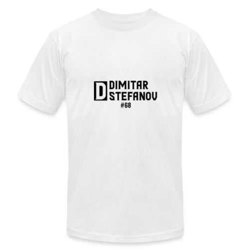 Dimitar Stefanov #68 Logo Design - Men's Fine Jersey T-Shirt