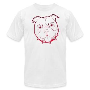Pit Tee Outline - Men's Fine Jersey T-Shirt