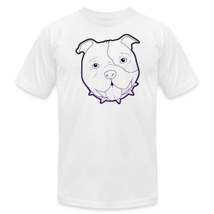 Pit Tee Outline alt. - Men's Fine Jersey T-Shirt