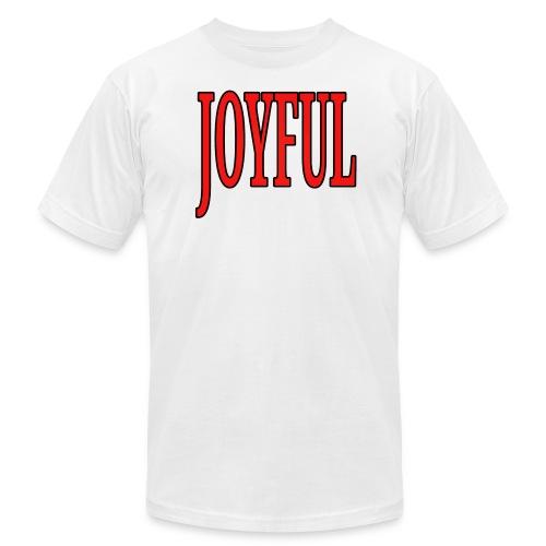 Dave The Cat Big Word Tee! Joyful! - Men's Fine Jersey T-Shirt