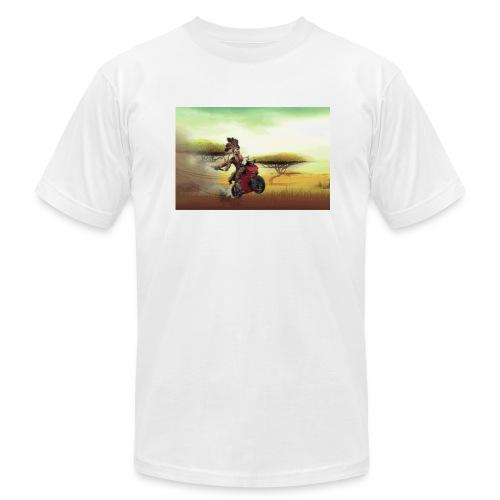 Chaka Zulu en roue arrière!! - Men's Fine Jersey T-Shirt