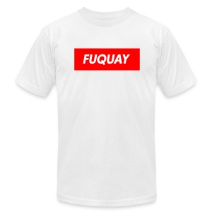 Fuquay Box Logo - Men's Fine Jersey T-Shirt