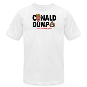 Conald Dump Worst President Ever - Men's T-Shirt by American Apparel