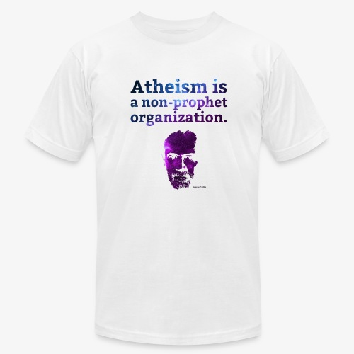 Atheism is a... - George Carlin - Men's Fine Jersey T-Shirt