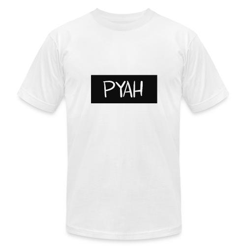 PYAH Box Logo - Men's Fine Jersey T-Shirt