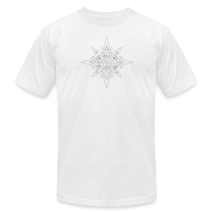 inca sun symbol contour - Men's Fine Jersey T-Shirt