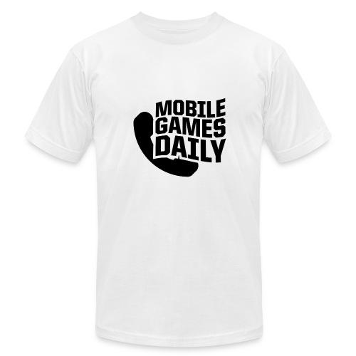 MGDLogo black - Men's Fine Jersey T-Shirt