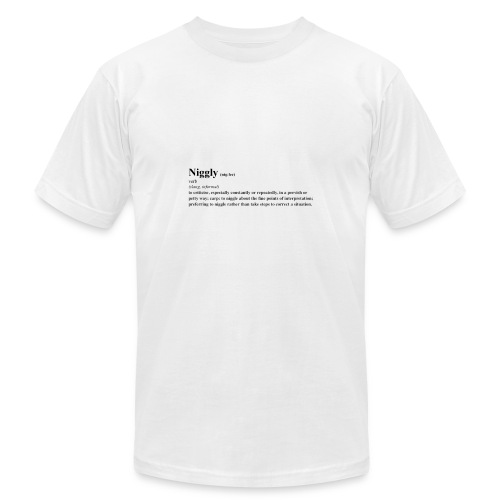niggly definition tee - Men's  Jersey T-Shirt