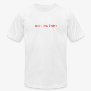 TreatYouBetter (red version) - Men's Fine Jersey T-Shirt