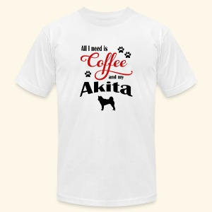 Akita and my need of Coffee - Men's Fine Jersey T-Shirt