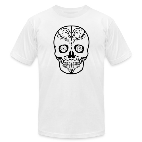 Colorful decorated skulls - Men's Fine Jersey T-Shirt