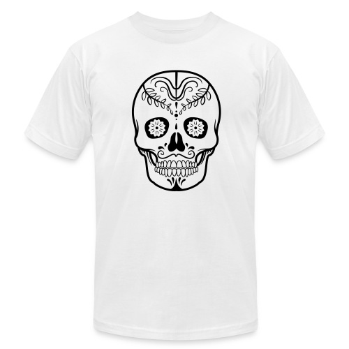 Colorful decorated skulls - Men's  Jersey T-Shirt
