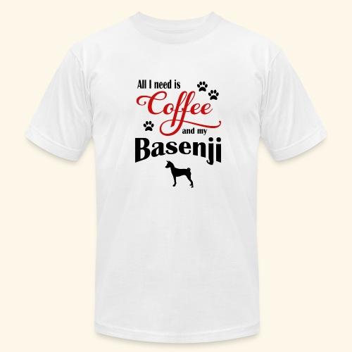 Basenji and my need of Coffee - Men's Fine Jersey T-Shirt